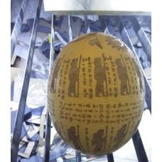 حک لیزر روی تخم شترمرغ